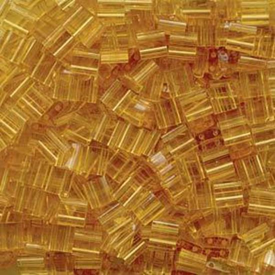 Tila Bead, 5mm, Transparent Pale Topaz