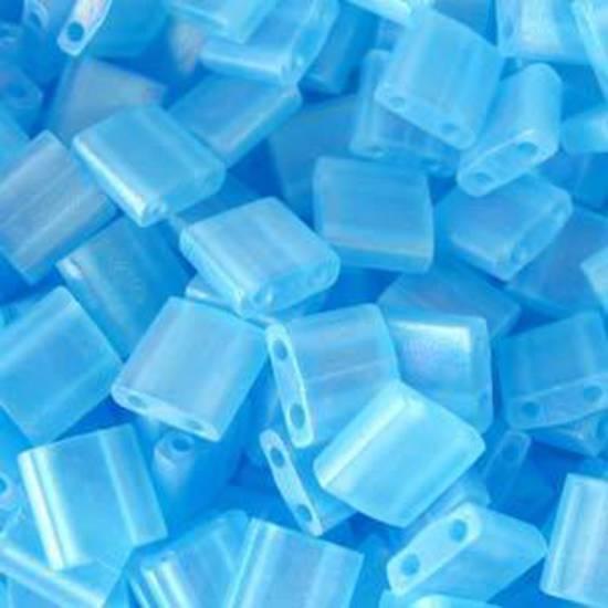 Tila Bead, 5mm, Matte Transparent Light Blue AB