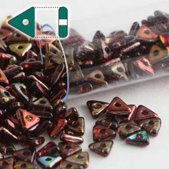 Czech Tri Bead: Crystal Magic Wine