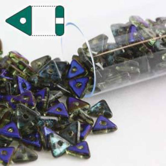 Czech Tri Bead: Peridot Azuro