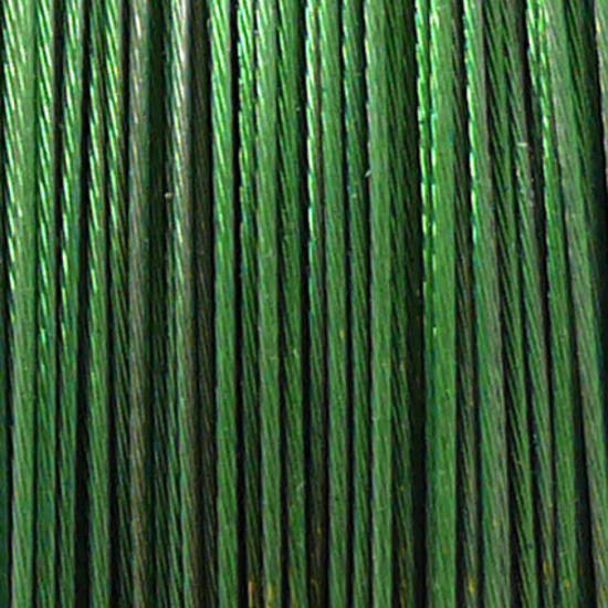 Tigertail Beading Wire: 100m roll - Grass Green
