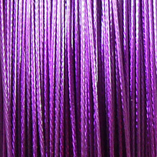 Tigertail Beading Wire: 100m roll - Bright Purple