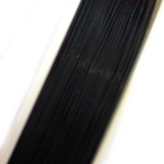 Tigertail Beading Wire: 10m roll - Black