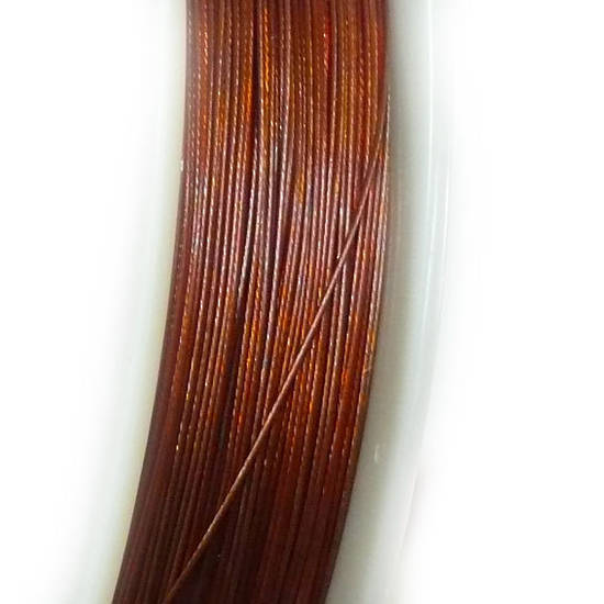 Tigertail Beading Wire: 100m roll - Brown