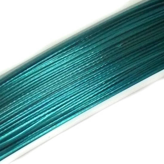 Tigertail Beading Wire: 50m roll - Indicolite