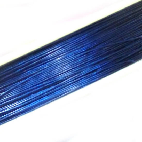 Tigertail Beading Wire: 100m roll - Capri Blue