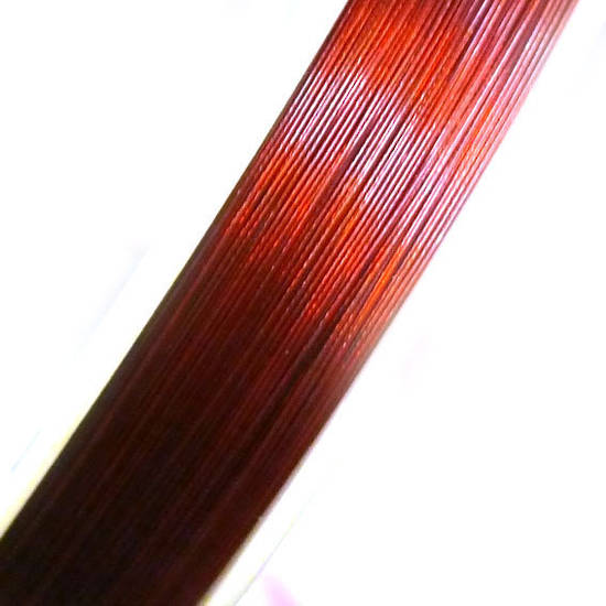 Tigertail Beading Wire: 100m roll - Reddy brown