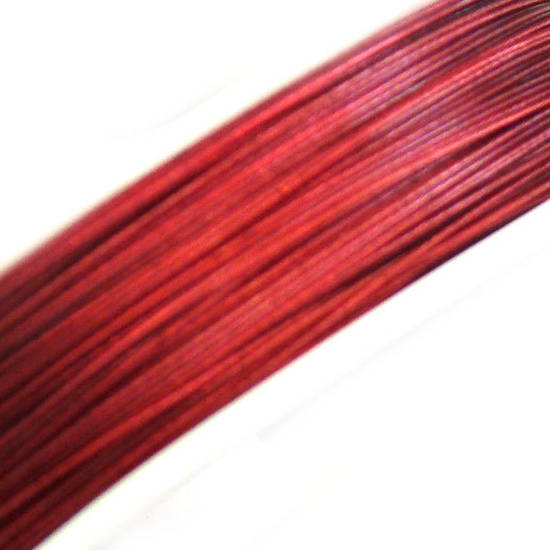 Tigertail Beading Wire: 100m roll - Ruby Red