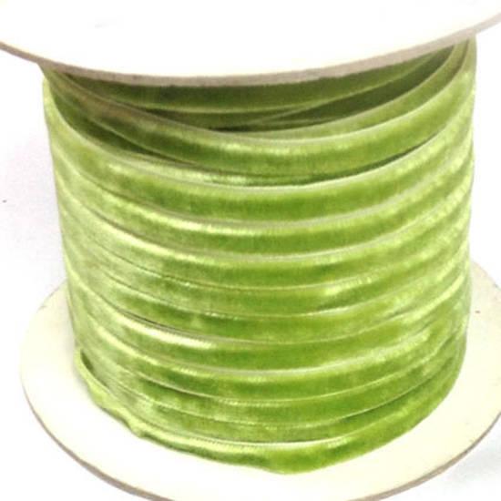 Velvet Ribbon - Lime Green