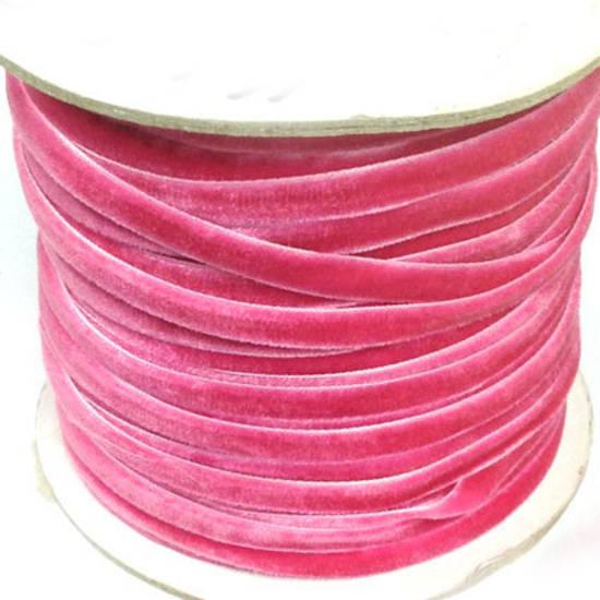 Velvet Ribbon - Hot Pink