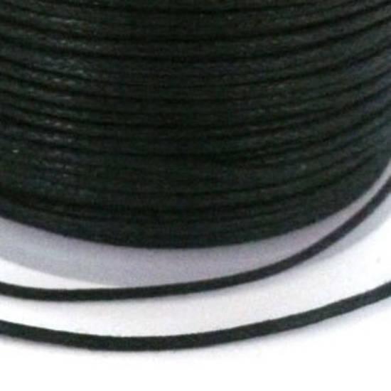 Indian round cotton cord - 1mm - black