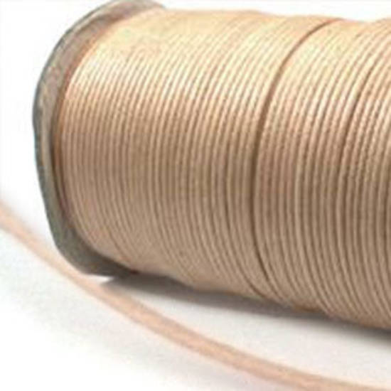 Indian round cotton cord - 1mm - natural