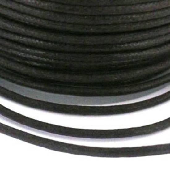 Indian round cotton cord: 2mm - dark brown