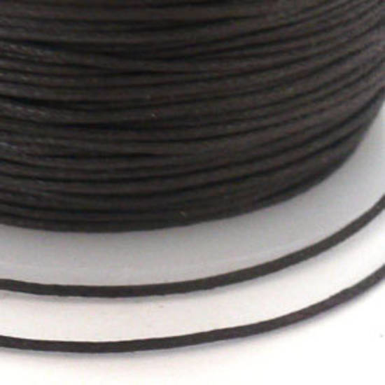 Indian round cotton cord - 0.5mm - dark brown