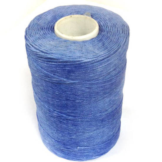 1mm Braided Waxed Cord, Sky Blue