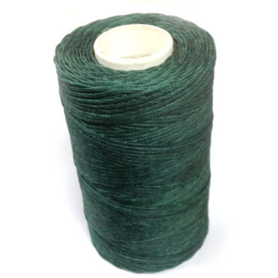 1mm Braided Waxed Cord, Dark Green