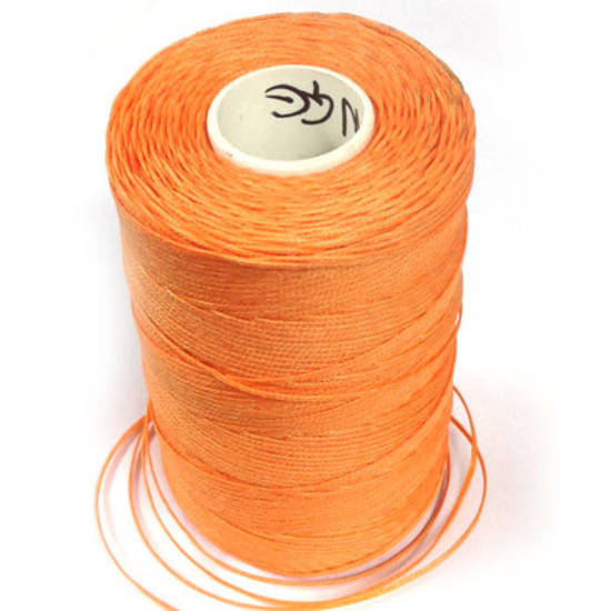 1mm Braided Waxed Cord, Orange