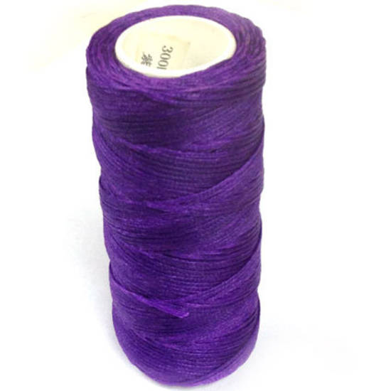 1mm Braided Waxed Cord, Purple
