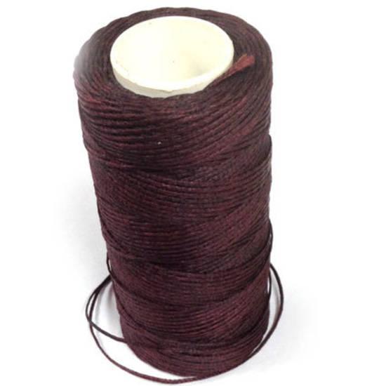 1mm Braided Waxed Cord, Dark Wine Brown