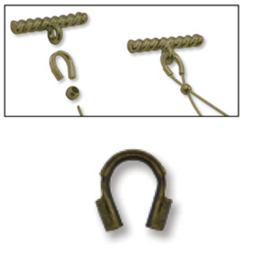 NEW! Wire Protector: Antique Brass