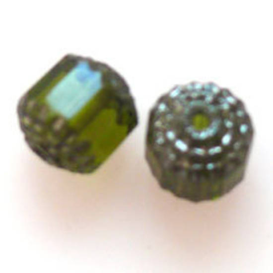 Cathedral Bead, 8mm x 12mm - Olivine