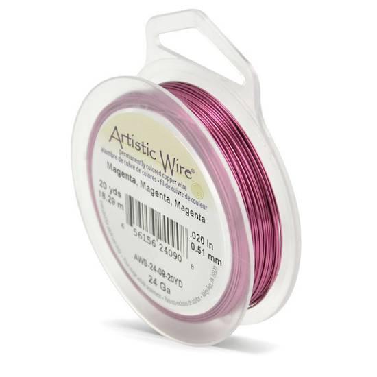 Artistic Wire: 24 gauge, Magenta