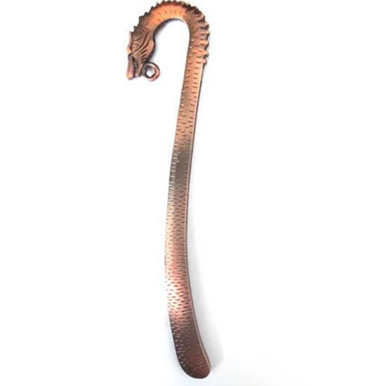Medium (12.5) Dragon Head Bookmark Base - antique copper