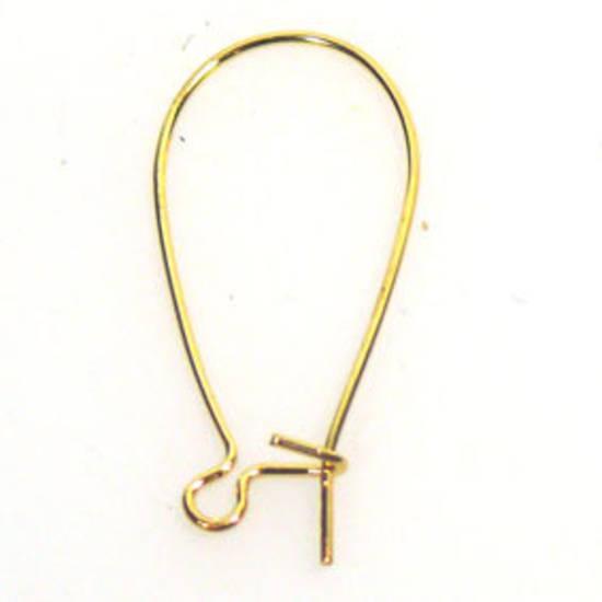 30mm Kidney Wire: Gold
