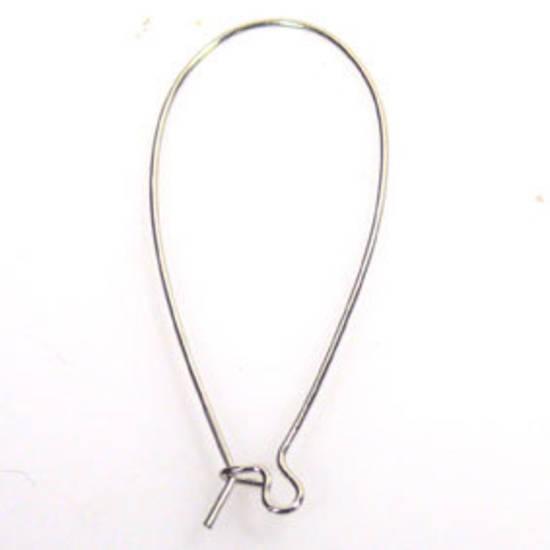 55mm Kidney Wire: Antique Silver