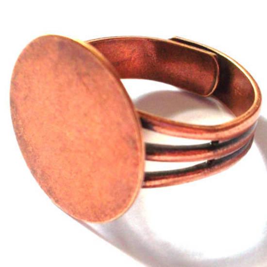 Adjustable Glue On Ring Base - ANTIQUE COPPER