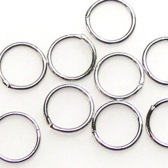 10mm Jumpring: Antique Silver