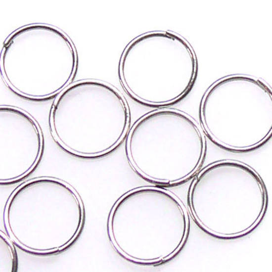 8mm Jumpring: Antique Silver