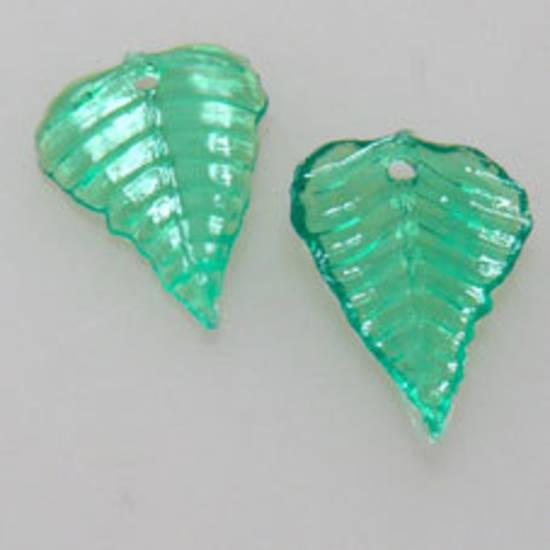 NEW! Acrylic Leaf, 10mm x 15mm - Green