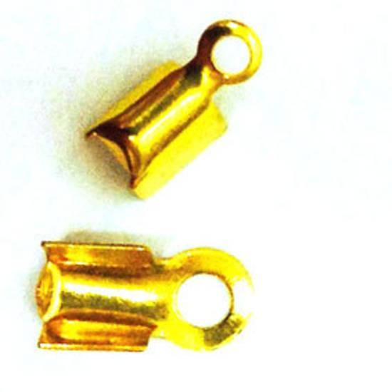 Fold Over Crimp (leatherend) - regular, 5mm: Gold