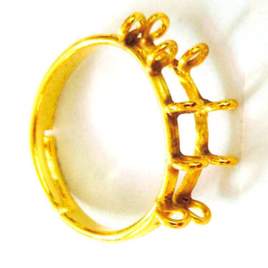 NEW! Ring Base with loops - Gold