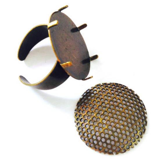 Round Sew On Ring Base - ANTIQUE BRASS