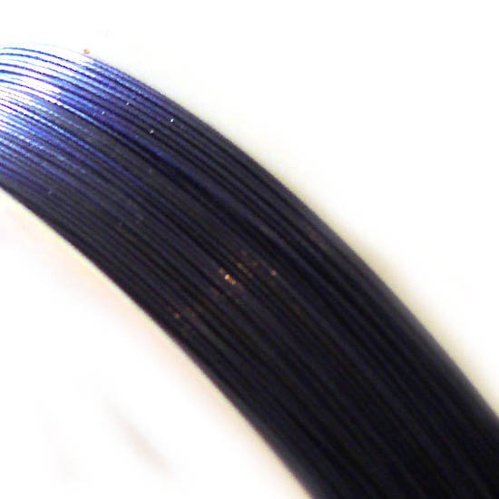 Tigertail Beading Wire: 100m roll -Midnight Blue