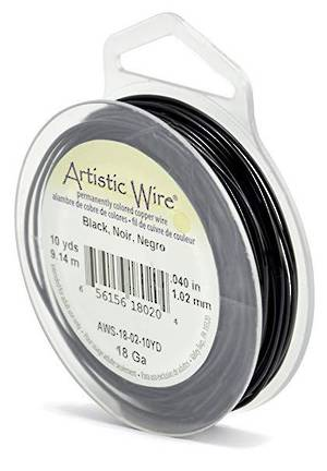 Artistic Wire: 18 gauge, Black