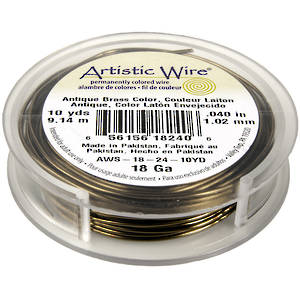 Artistic Wire: 18 gauge, Gunmetal/Bronze a Canon (end of line colour)