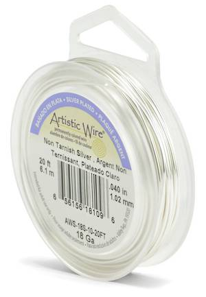 OUT OF STOCK Artistic Wire: 18 gauge, Tarnish Resistant Silver