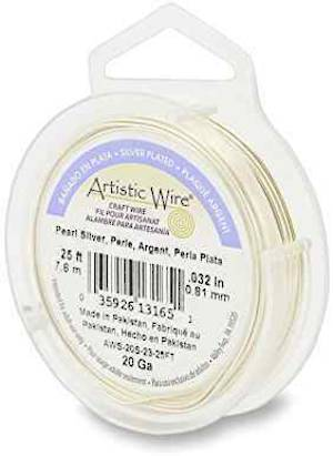 Artistic Wire, Pearl Silver, 20 gauge