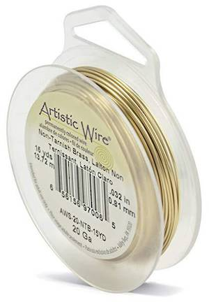 OUT OF STOCK Artistic Wire, Tarnish Resistant  Brass (GOLD), 20 gauge