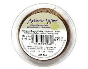 Artistic Wire:  22 gauge, Antique Brass