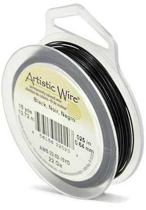 Artistic Wire: 22 gauge, Black