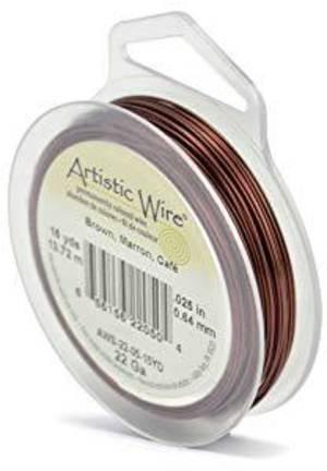 Artistic Wire: 22 gauge, Brown
