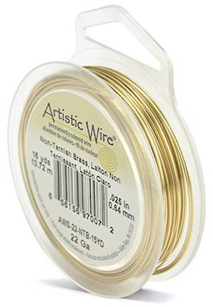 Artistic Wire: 22 gauge, Tarnish Resistant  Brass