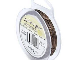 Artistic Wire:  20 gauge, Gunmetal/Bronze a Canon (end of line colour)