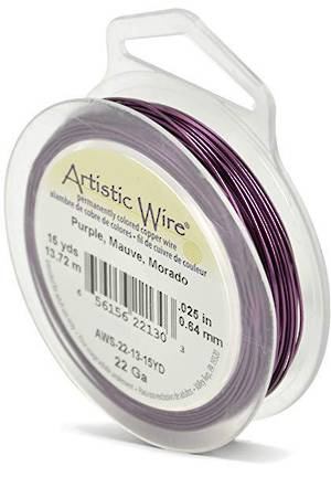 Artistic Wire:  22 gauge, Purple