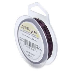 Artistic Wire: 28 gauge, Purple