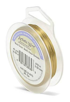 Artistic Wire: 28 gauge, Tarnish Resistant  Brass